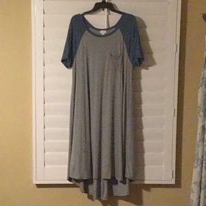 Lularoe Carly baseball-tee style dress